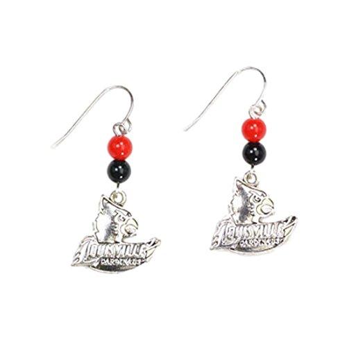 Seasons Jewelry Louisville Cardinals Beaded Logo Dangle Earrings