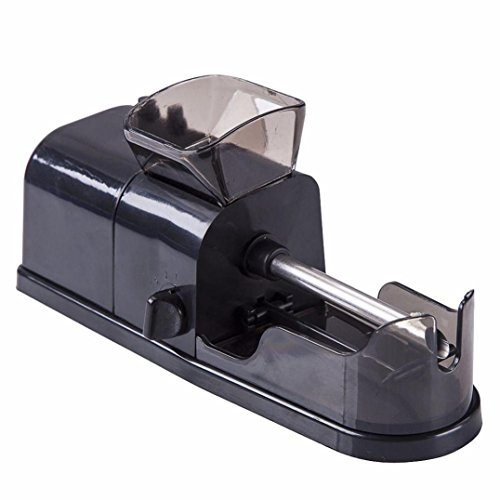 Exteren Electric Cigarette Tobacco Rolling Automatic Roller Maker Mini Machine (Black)