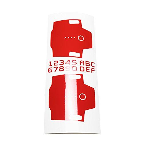 Wrapgrade Mono Skin for DJI Mavic Pro Batteries (Super RED)