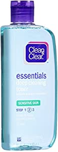CLEAN & CLEAR Deep Cleaning Astringent Sensitive Skin 8 oz (Pack of 5)