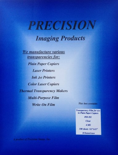 Precision Imaging Products Transparency Films #10-101