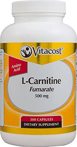Vitacost L-Carnitine Fumarate — 500 mg – 300 Capsules