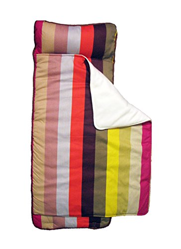 SoHo New York Stripe nap mat for toddler preschool day care with pillow lightweight rolled nap mats by SoHo Designs (Image #1)