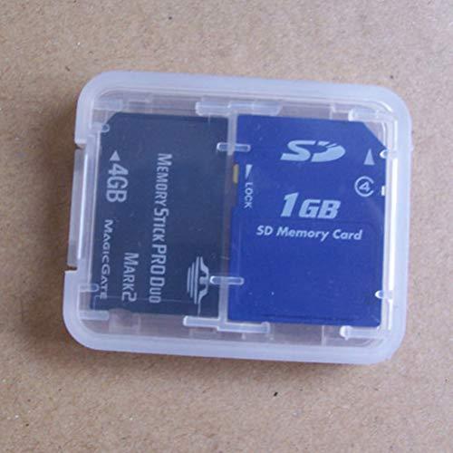 Organ - 8 In 1 Protector Holder Plastic Transparent Mini Hc Tf Ms Memory Card Storage Case Box Bag - Bins Storage Boxes Storage Boxes Bins Clear Memory Holder Card Makeup Plastic Case Leather]()