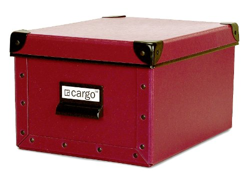 Cargo Naturals Media Storage Box, Red Spice, 6 by 10-1/4 by 8-Inch