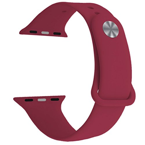 Band for Apple Watch Series 3 38mm 42mm, Yimzen Soft Silicone Replacement Sport Band iWatch Strap for Apple Watch Series 3 Series 2 Series 1, S/M M/L Size