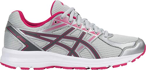 ASICS Jolt Women's Running Shoe, Glacier Grey/Carbon/Bright Rose, 6.5 W ()