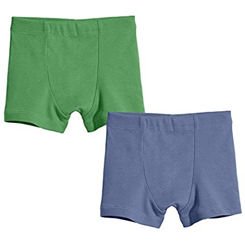 City Threads Boys Boxers Briefs Mature Style in All Cotton Fun Colors - Super Soft for Sensitive Skin; SPD and Sensory Friendly; 2-Pack, Elf/Denim Blue, (Mature)
