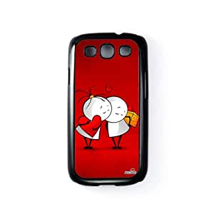 Friends Forever Red Carcasa Protectora Snap-On en Plastico Negro para Samsung® Galaxy S3 de Madotta + Se incluye un protector de pantalla transparente GRATIS