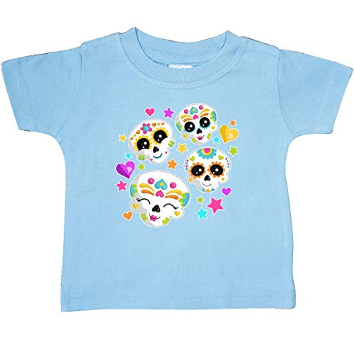 inktastic - Decorative Skull Party for Baby T-Shirt 12 Months Light Blue 31e14 -