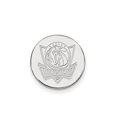 NBA Dallas Mavericks Lapel Pin in 14K White Gold by LogoArt