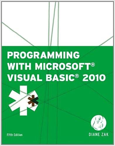 Programming with Microsoft Visual Basic 2010 (VB Net Programming
