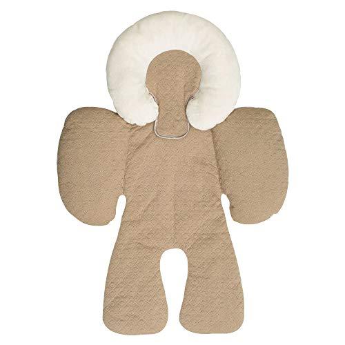 XEDUO Baby Stroller Body Support Pad Mat Compliance Car Seat Head Body Cushion (Khaki)