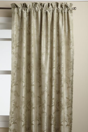 LORRAINE HOME FASHIONS Floral Lustre 52-inch x 63-inch Tailored Panel, Sage ()