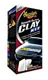 MEGUIAR'S Smooth Surface Clay Kit - Safe and Easy Car Claying for Smooth as Glass Finish - G1016