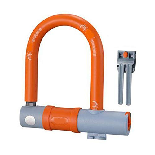 Kalmar Bicycle Lock - Sturdy and Practical U-Lock for Mountain Bikes, Electric Cars, Motorcycles, Size: 6.4 1.6 7.2 inches, Color: Gray, Orange High Security Lock Best for Bicycle Outdoors (Used Racing Bikes For Sale In India)