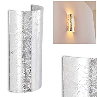 Wandlampe Design LED Wand Strahler Flur Leuchten silberfarben Wohn Zimmer Lampen