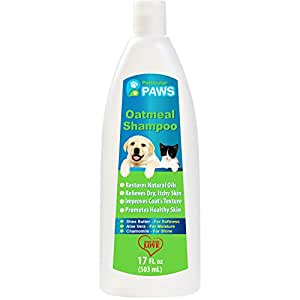 Oatmeal Shampoo for Dogs and Cats with Shea Butter, Aloe Vera, Chamomile - 17oz