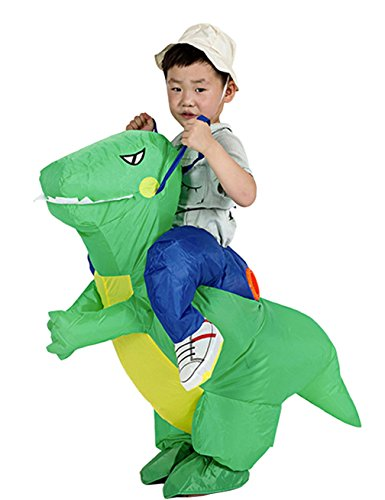 Horse Rider Halloween Costumes Idea (Gameyly Inflatable Animal Rider Halloween Costumes Fancy Dress Party Outfit Dinosaur for Kids)