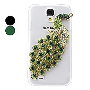AES - Peacock Crystal Relief Pattern Hard Case for Samsung Galaxy S4 I9500 (Assorted Colors) , Green
