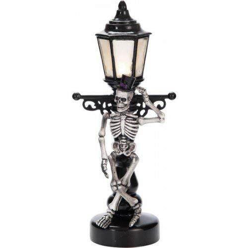 Light Up Lamp Post Skeleton Decoration]()