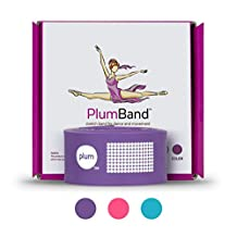 The PlumBand Stretch Band for Dance and Ballet – Sizes for Kids & Adults – Improve Your Splits, Strength, and Flexibility with Stretching – Printed Instruction Booklet and Travel Bag