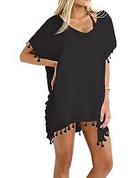 Taydey Women's Stylish Chiffon Tassel Beachwear Bikini...