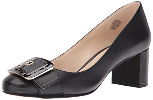 Nine West Women's Widlyn Leather Dress Pump, Black, 7 M US - Nine West Satin Shoes