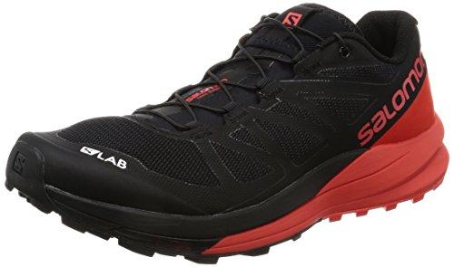 Salomon Unisex S-Lab Sense Ultra Running Sneakers, Black Mesh, Manmade, 5 D