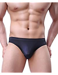Mens Ultra Thin Soft Low Rise Briefs Breathable Ice Silk Triangle Bikini Brief Sport Pouch Sexy Underwear