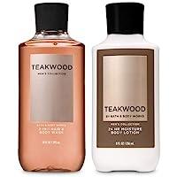 BATH AND BODY WORKS GIFT SET TEAKWOOD FOR MEN - Body Wash & Body lotion - FULL SIZE