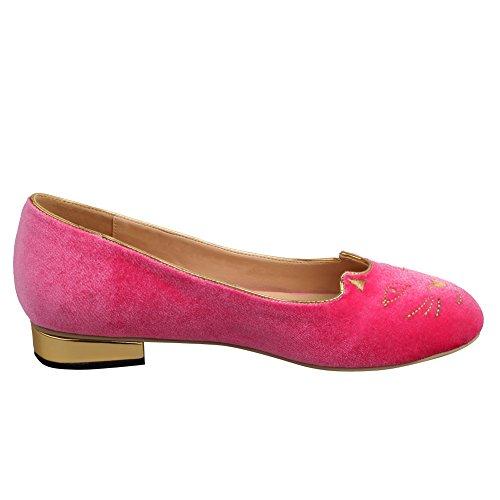 Jushee - Sandalias mujer Rojo - rosa (b)