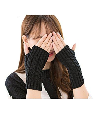 退院記念一過性Legou(ラッコウ) レディース ニット 指なし ケーブル編 グローブ 手袋