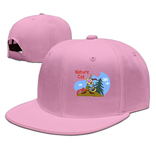 nature-cat-unisex-100-cotton-pink-adjustable-snapback-trucker-hats-one-size