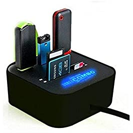 rts All in One Combo Card Reader for Pen Drive/Cameras/mobiles/PC/Laptop/Notebook/Tablet/or Docking Station/MP3s/PDAs…