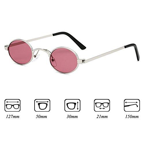 metal Gafas Juleya vintage mujer para de de Gafas C5 ovaladas con sol Gafas pequeñas marco 8qOp41U