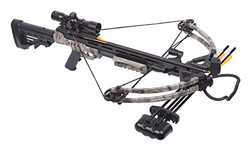 CenterPoint Sniper 370 Crossbow Package, Camouflage (Best Rated Compound Bow)