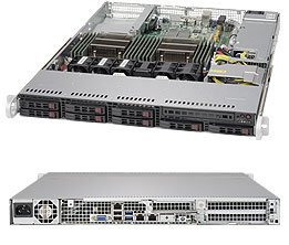 Supermicro SuperServer 1028R-TDW Barebone System - 1U Rack-mountable - Intel C612 Express Chipset - Socket R LGA-2011 - 2 x SYS-1028R-TDW by Supermicro