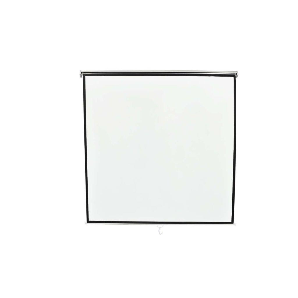 vidaXL Pantalla proyección manual 160 x 160 cm Blanco Opaco 1:1 techo pared 240715