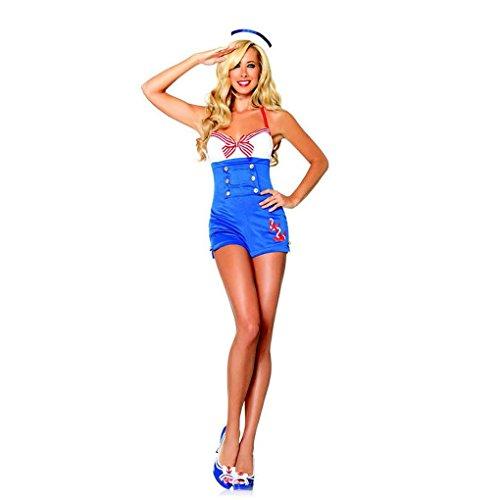 [Mememall Fashion Sexy High Seas Honey Pin Up Sailor Women's Halloween Costume Leg Avenue Small] (Adult Lady Liberty Plus Size Costumes)