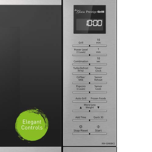 Panasonic Countertop Microwave Oven with FlashExpress Broiler, Genius Sensor Cooking, Popcorn Button and 1000W of Cooking Power - NN-GN68KS – 1.1 cu. ft (Stainless Steel) by Panasonic (Image #8)