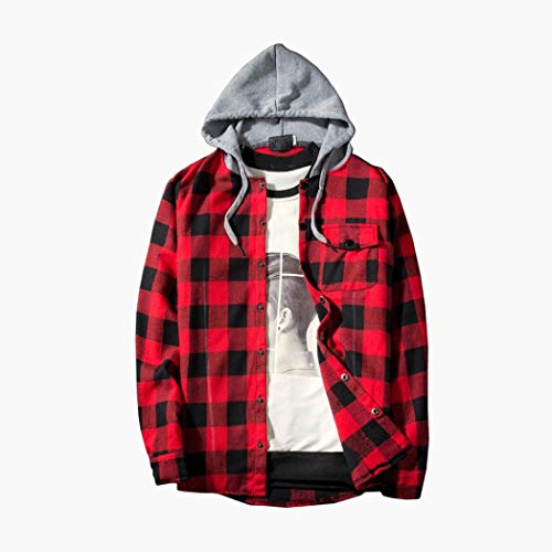 Men's Hooded Shirts On Sale, Jiayit Mens Casual