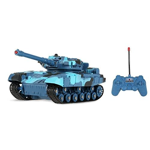 RC Military Tank 1/24 Scale Infrared Remote Control Battery Operated