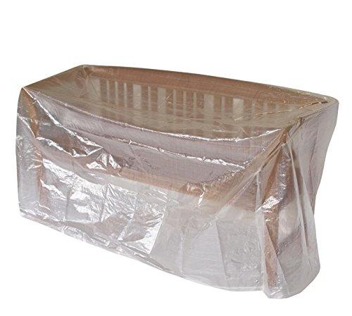 Abdeckhaube Bank 2-sitzer 134cm, PE transparent