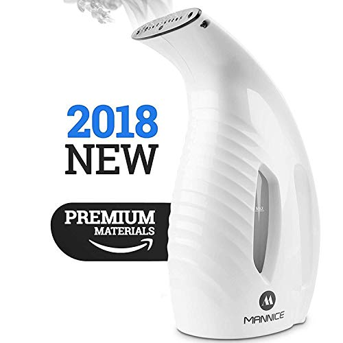 Garment Steamer Portable Mini Handheld Fabric Steamer 800W Powerful Clothes Steamer Fast-Heat for Ironing, Perfect for Household and Travel Use [White]