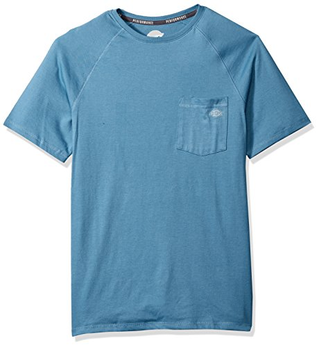 Dickies Men's Short Sleeve Performance Cooling Tee, Dusty Blue, M
