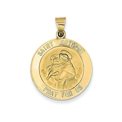 FB Jewels 14K Yellow Gold Saint Anthony Medal Pendant