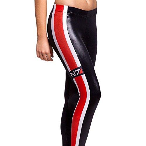 Sheoutfit Women's Hot Mass Effect N7 Wet Look Leggings Pants Free Size Color9