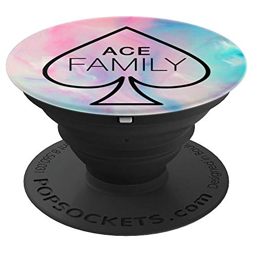 Phone Ace - Ace Family, Cotton Candy Pink Blue - PopSockets Grip and Stand for Phones and Tablets