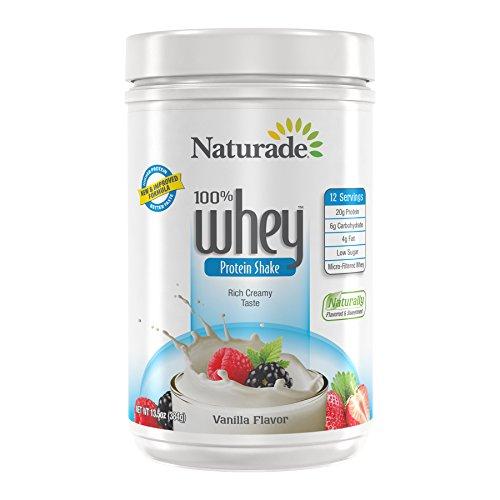 Naturade 100% Whey Protein Booster, Vanilla Flavor, 12 Ounce ()